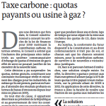 Des quotas payants, tout de suite !