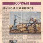 Sauver la taxe carbone