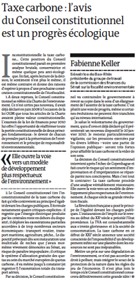 Tribune du 2 janvier 2010 dans Le Monde