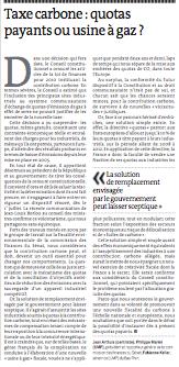 Tribune du 27 janvier 2010 dans Le Monde